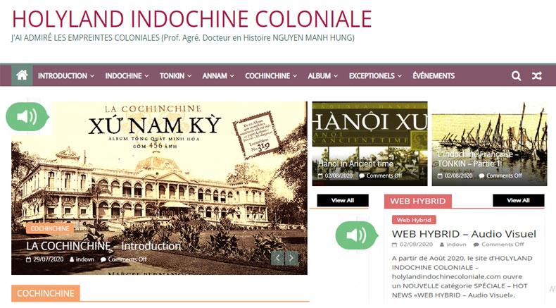 Web HYbrid - holylandindochinecoloniale.com